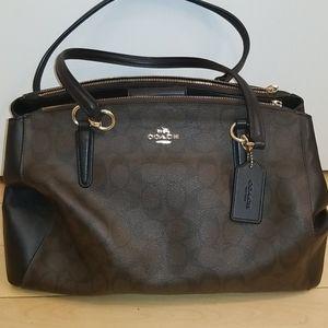 Coach Black / Brown leather bag